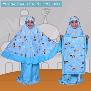 Mukena Frozen Tsum Biru XXL