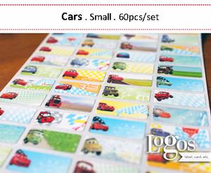 Cars Sticker. Name Label Small. Stiker nama anak lucu, karakter Cars D