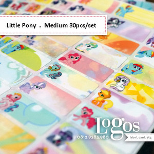 My Little Pony Sticker MEDIUM Name Label. Stiker fancy lucu untuk nama