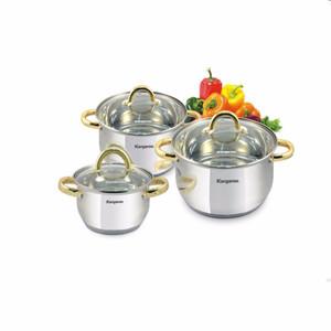 Kangaroo KG864 Cookware Set / Panci Set Isi 3 Stainless Steel