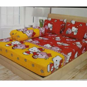 Promo Sprei Hello Kitty Red no.1 / no2 Ladyrose Murah Berkualitas