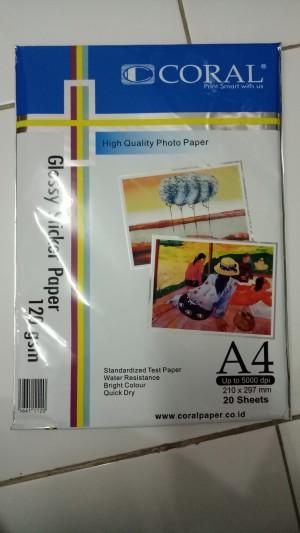 Kertas Sticker Glossy Paper 120 GSM