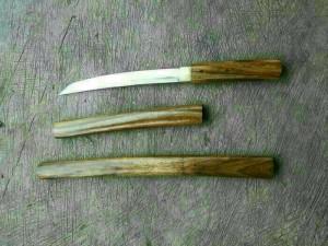 pedang samurai tanto natural