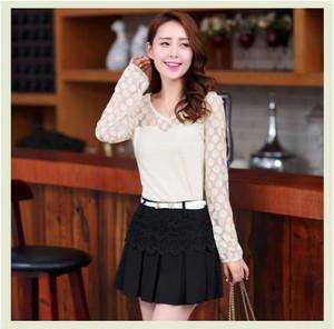 Casual blouse wanita lengan panjang putih import 100% no replika