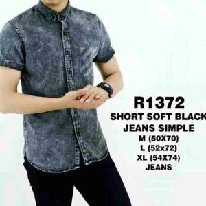 Kemeja Jeans Black Simple