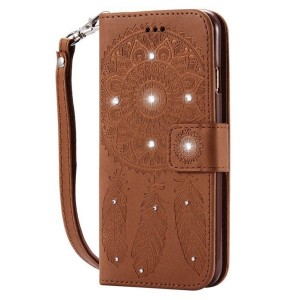SAMSUNG J7 PRIME DREAM CATCHER PU LEATHER DIAMOND WALLET COVER SOFT CA