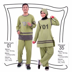 Qirani Fresh Sport Couple 01 - Jual Baju Olahraga Couple Original