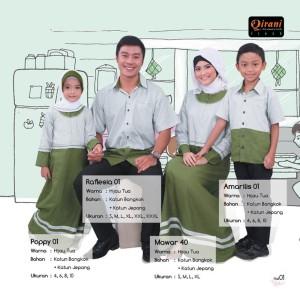 Qirani Sarimbit Fresh 01 B - Hijau - Jual Baju keluarga Muslim