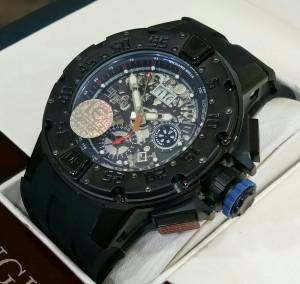 Jam Tangan Pria Richard Mille RM-032 FULLBLACK Rubber - AUTOMATIC
