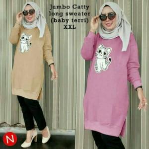47407 Jumbo Catty Long Sweater Blouse