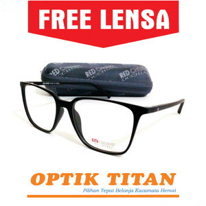 Frame Kacamata Minus Baca Red Cherry 4021 Premium Hitam Murah Terbaru