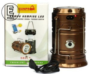 Sunpro Lampu Emergency / Camping / Solar Charger Power Bank 5800T