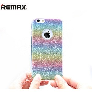 Remax Glitter Case Rainbow FOR IPHONE 5 / 5s / SE / Casing / Softcase