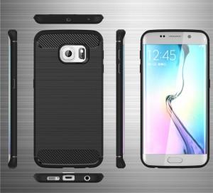 SoftShell Delkin Carbon Fiber Samsung S6 Edge Case/Ipaky/Capsu 0704