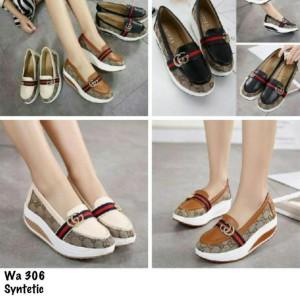 Jual sepatu g**ci replika simple Baru | Sepatu Wedges Wanita Murah