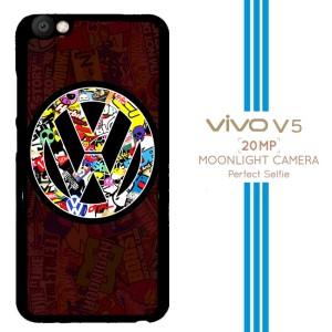VW Sticker Bomb A1189 Casing Premium Vivo V5 Custom Case