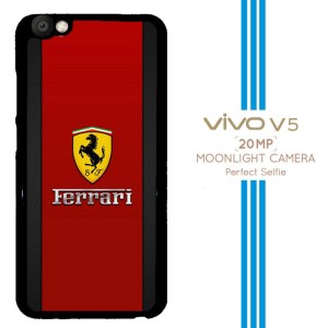 Ferrari logo wallpaper X3390 Casing Premium Vivo V5 Custom Case
