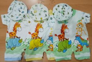 Baju Bayi Jumper Pendek/Kodok Karakter Little Zoo