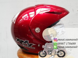 Helm RN Segitiga Maroon / Sport