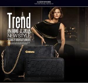 B7367-BLACK Tas Import 2in1 Koleksi Caciku Shop
