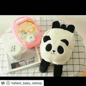 balmut sambung panda bantal selimut boneka bonmut souvenir