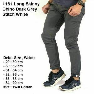 dark grey chino grey stitch bagus keren mantap fashion cowok pria laki