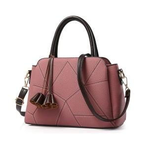 80733 DARK PINK - Tas Kerja Import / Fashion / Korea / Wanita / Batam