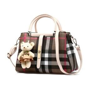 80737 BEIGE - Tas Kerja Import / Teddy bear / Korea / Wanita / Batam