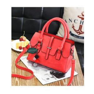 80738 RED - Tas Kerja kantor Import / Simple / Korea / Wanita /Batam