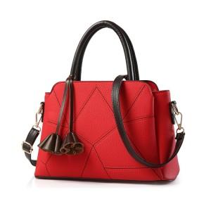 80733 RED - Tas Kerja Import / Fashion / Korea / Wanita / Batam