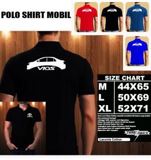 Polo Shirt Otomotif Mobil TOYOTA VIOS SILUET TS/Kaos Kerah/Baju Kerah