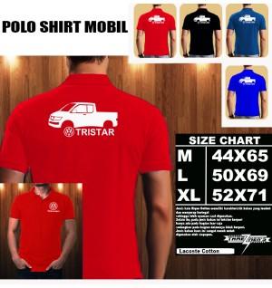 Polo Shirt Otomotif Mobil VOLKSWAGEN TRISTAR CONCEPT SILUET TS/Kaos