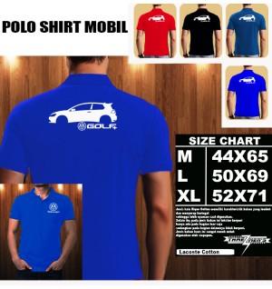 Polo Shirt Otomotif Mobil VOLKSWAGEN Golf SILUET TS/Kaos Kerah/Baju