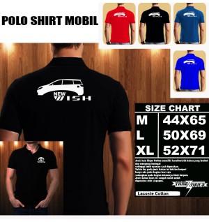 Polo Shirt Otomotif Mobil TOYOTA NEW WISH SILUET TS/Kaos Kerah/Baju