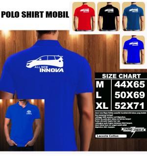 Polo Shirt Otomotif Mobil TOYOTA ALL NEW INNOVA SILUET TS/Kaos Kerah