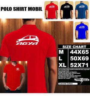 Polo Shirt Otomotif Mobil TOYOTA AGYA SILUET TS/Kaos Kerah/Baju kerah