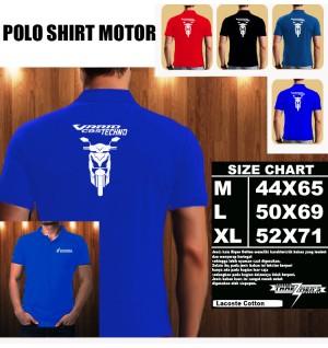 Polo Shirt Otomotif Motor HONDA VARIO TECHNO SILUET TD/Kaos Kerah/Baju