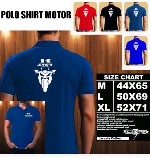 Polo Shirt Otomotif Motor KAWASAKI NINJA ZX 6R SILUET TD/Kaos Kerah