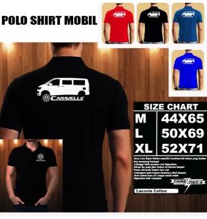 Polo Shirt Otomotif Mobil VOLKSWAGEN Caravelle SILUET TS/Kaos Kerah