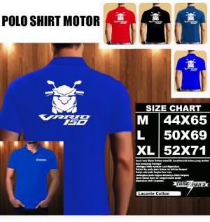Polo Shirt Otomotif Motor HONDA VARIO 150 SILUET TD/Kaos Kerah/Baju