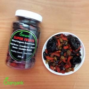 Mix Dried Fruit - Goji Berry Cranberry Plum Prune Golden Raisin Kismis