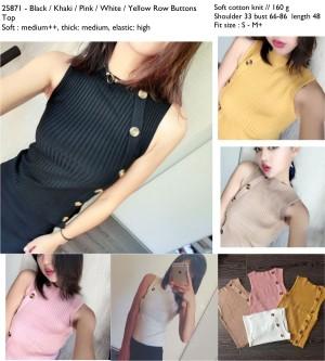 blouse rajut, tank top knit, hitam, khaki, kuning mustard, pink, putih