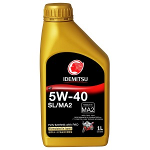 Idemitsu 4T SL/MA2 5W-40 FULLY-SYNTHETIC- 1 LTR - PAO - 100% ORIGINAL