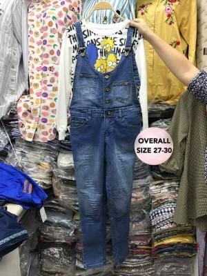 Overall Denim Jeans Trendy Model 01