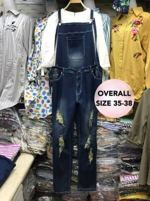 Big Size Overall Denim Jeans Model 04