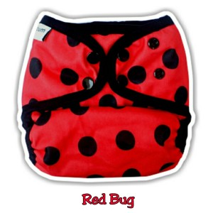 Clodi Ecobum Snap PUL Redbug + insert Bamboo