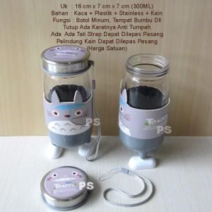 Totoro Botol Minum Kaca or Botol Bumbu Serbaguna Type2