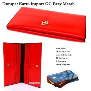 Dompet branded multifungsi import gc eazy merah