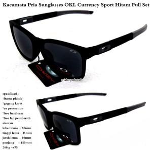 kacamata branded pria OKL currency sport hitam fullset