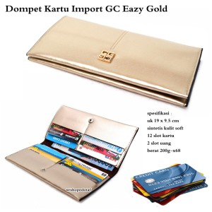 Dompet branded multifungsi import gc eazy gold